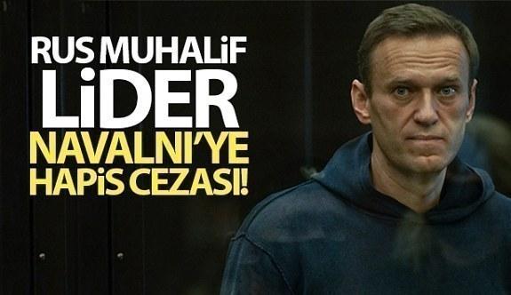 Rus muhalif lider Navalny, 3,5 yıl hapis cezasına çarptırıldı