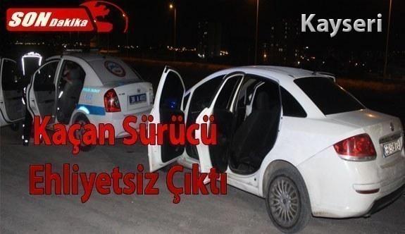 Son dakika... Kayseri'de polisi görünce otomobil ile kaçmaya çalışan sürücü ehliyetsiz çıktı