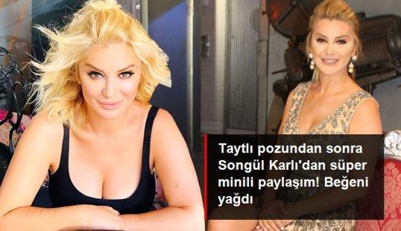 Songül Karlı'nın süper mini elbiseli pozu sosyal medyayı salladı