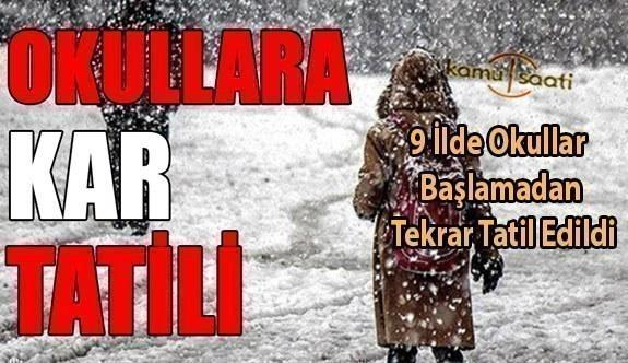 Yarın Okullar Tatil mi? 15 Şubat 2021 Pazartesi Kar Tatili olan İller