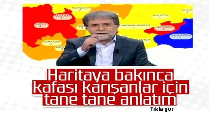 Ahmet Hakan, harita üzerinde yeni kararları anlattı