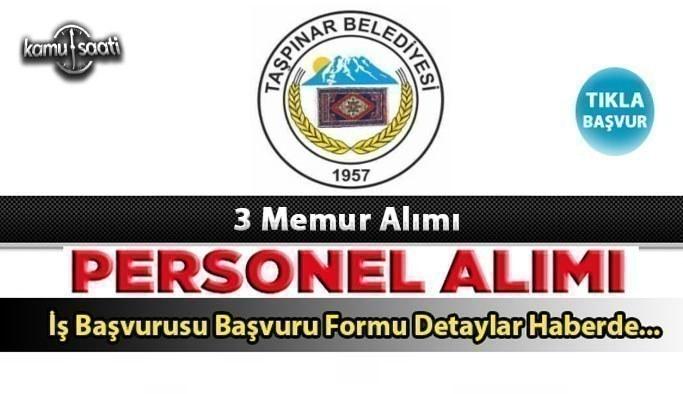 Aksaray İli Taşpınar Belediye Başkanlığı Memur alım ilanı