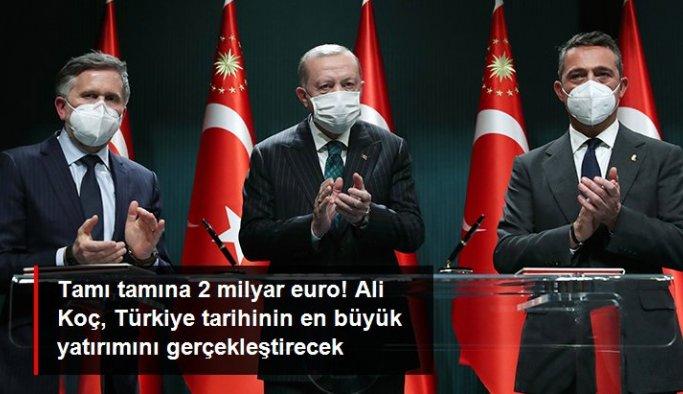 Ali Koç: 2 milyar euroluk Türk otomotiv sektörünün bugüne kadarki en büyük yatırımını gerçekleştireceğiz