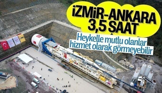 Ankara-İzmir Hızlı Tren Hattı'nda tünel kazımı başladı