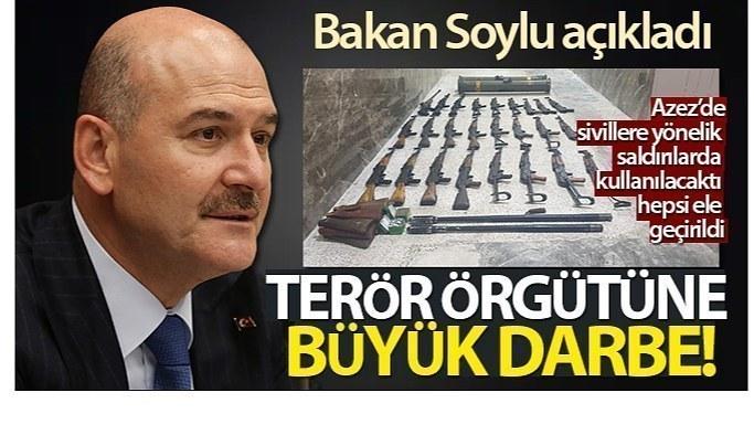 Bakan Soylu açıkladı! PKK/YPG'ye, Azez'de büyük darbe