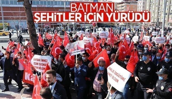 Batman'da 'Şehitlere Saygı, Teröre Lanet' yürüyüşü düzenlendi