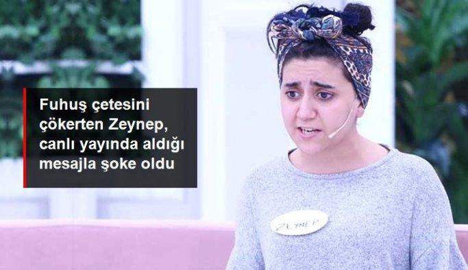 Esra Erol'un programında fuhuş çetesini çökerten Zeynep, tehdit mesajı almaya başladı