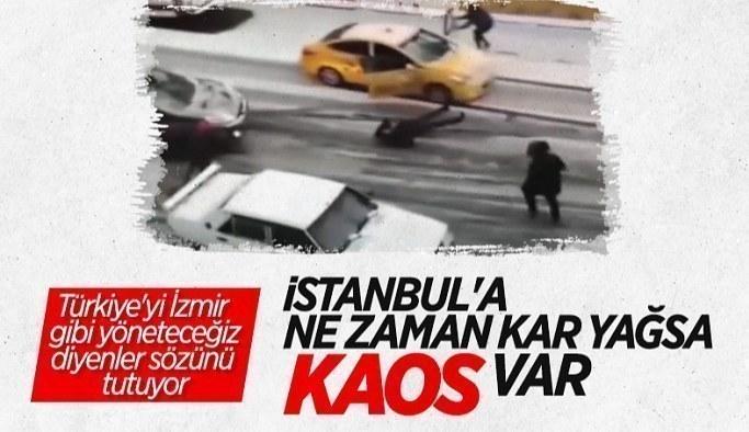 Eyüpsultan'da kayan taksiyi kapısını tutarak durdurmaya çalıştı