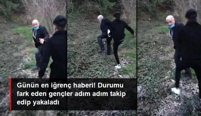 İple bağladığı köpeğe cinsel istismarda bulunmaya çalışan yaşlı adam, gençler tarafından darbedildi