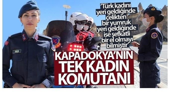 Kapadokya'nın tek kadın komutanı işini aşkla yapıyor