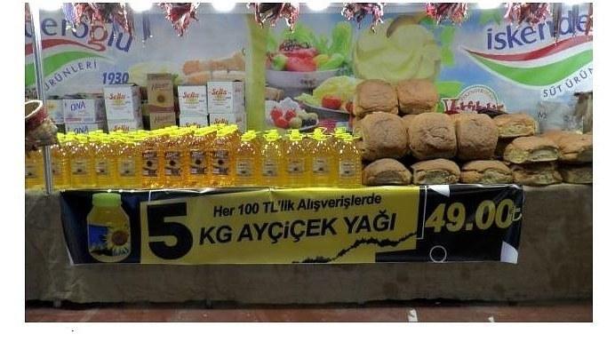 Kayseri Yöresel Ürünler Fuarında ucuz ayçiçek yağı ilgi görüyor 5 litresi 50 lira