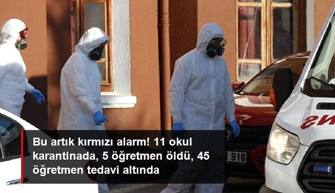 Kırmızı şehir bu kez gerçekten alarm veriyor! 5 öğretmen vefat etti, 11 okul karantinaya alındı