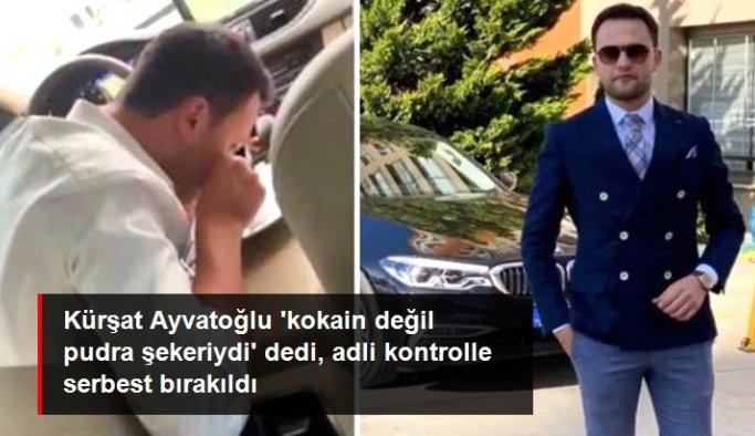 Kokain çektiği görüntüler nedeniyle gözaltına alınan Kürşat Ayvatoğlu adli kontrolle serbest bırakıldı