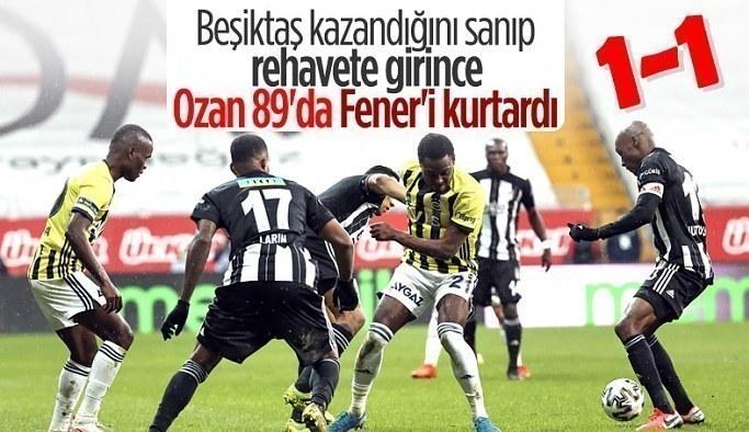 Kritik derbide Beşiktaş ve Fenerbahçe yenişemedi