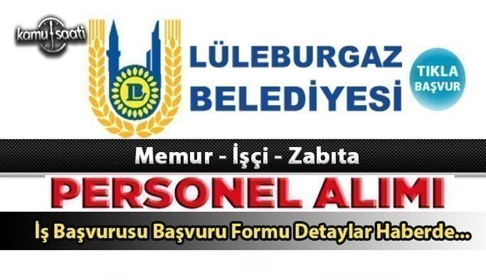 Lüleburgaz Belediyesi 7 memur alacak 2021 yılı personel alım ilanları