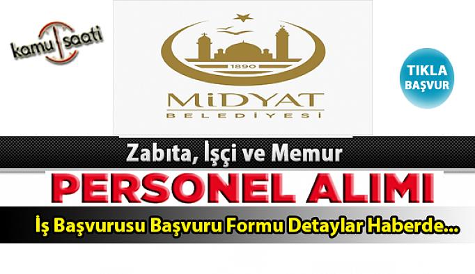 Midyat Belediyesi Personel Alımı İş ilanları ve Başvuru Formu
