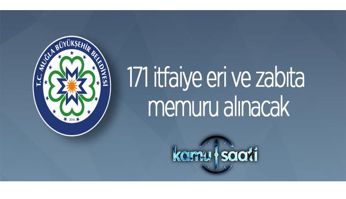 Muğla Büyükşehir Belediyesi personel alımı 2021 belediye 171 itfaiye eri ve zabıta memuru alacak