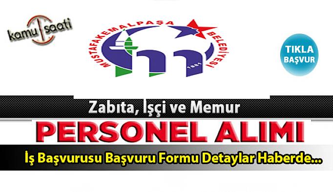 Mustafakemalpaşa Belediyesi Personel Alımı İş ilanları ve Başvuru Formu
