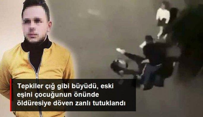 Son Dakika: Eski eşini çocuğunun gözleri önünde öldüresiye döven İbrahim Zarap tutuklandı