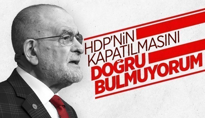 Temel Karamollaoğlu HDP'nin kapatılmasına karşı çıktı