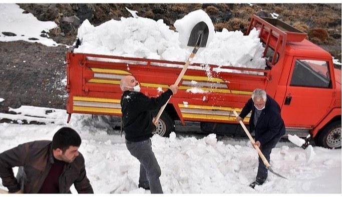 400 yıllık kuyulara 'kar basma' geleneği Kayseri İncesu Sondakika Haberleri |kamusaati.com
