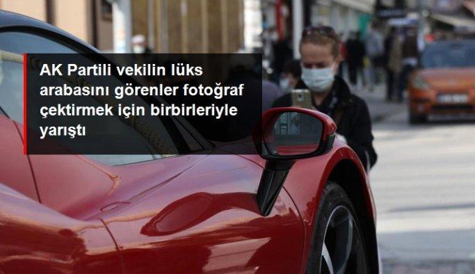 AK Partili vekilin lüks arabasını gören Edirneliler fotoğraf çektirmek için birbirleriyle yarıştı