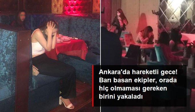 Ankara'da hareketli gece! Karantinada olması gereken kişi bar baskınında yakayı ele verdi