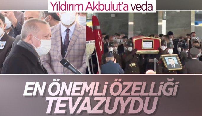 Cumhurbaşkanı Erdoğan, Yıldırım Akbulut'un cenaze törenine katıldı