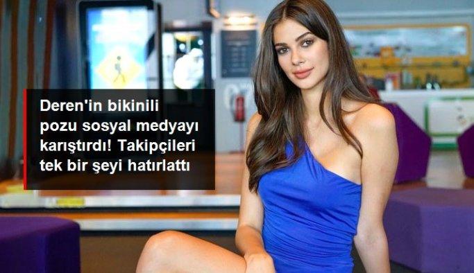 Deren Talu'nun bikinili pozu sosyal medyayı karıştırdı! Takipçileri tek bir şeyi hatırlattı