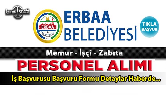 Erbaa Belediyesi Personel Alımı İş ilanları ve Başvuru Formu