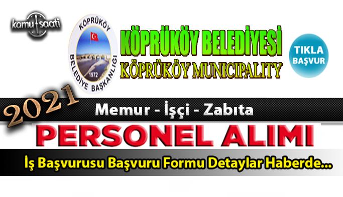 Erzurum Köprüköy Belediyesi personel alımı ve 9 memur alımı yapacak 2021 İş ilanları
