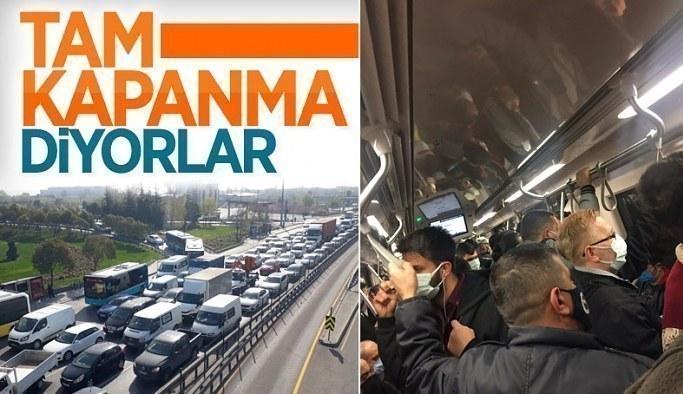İstanbul'da tam kapanmanın ilk günü trafik yoğunluğu yaşandı