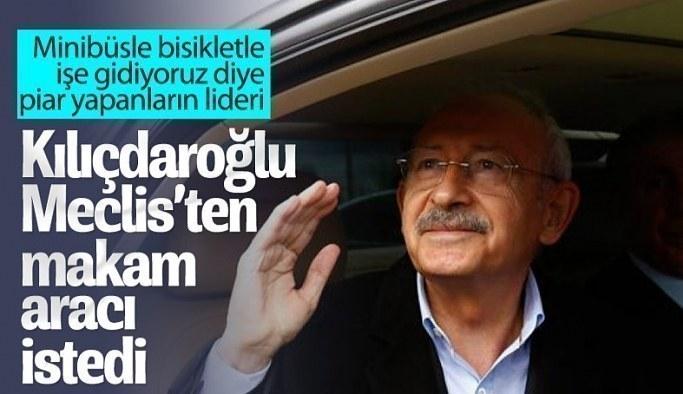 Kılıçdaroğlu'na yeni makam aracı istendi