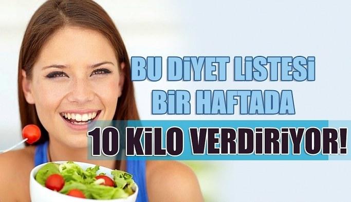 Kısa sürede zayıflamaya yardımcı olan diyet listesi haftada 10 Kilo verin..