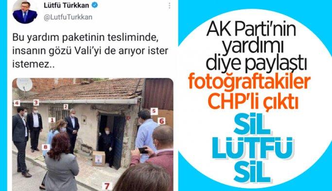 Lütfü Türkkan iktidarı eleştireyim derken CHP fotoğrafı paylaştı