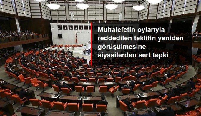 Meclis'te reddedilen Güvenlik Soruşturması teklifinin yeniden oylanacak olmasına muhalefetten tepki