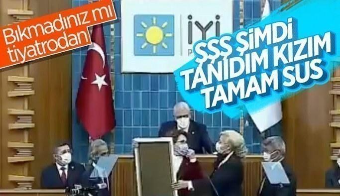 Meral Akşener'in emekli polis tiyatrosunda zor anları