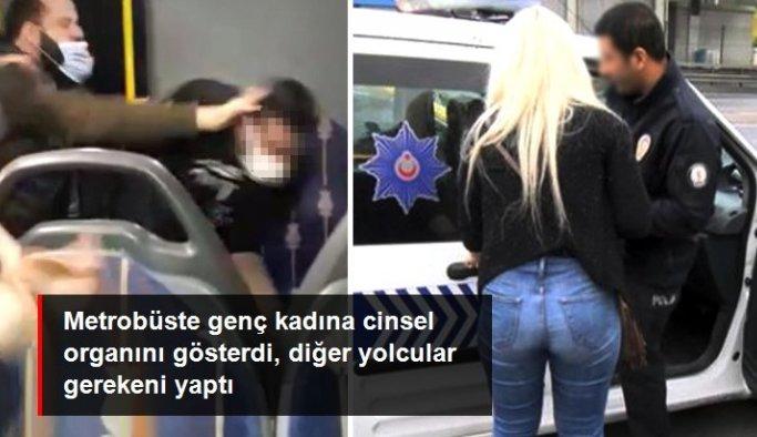 Metrobüste genç kadına taciz! Yolcular şüpheliyi yakalayıp polise teslim etti