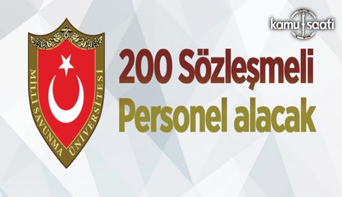 Milli Savunma Üniversitesi 200 Sözleşmeli Personel alacak 2021 Msü Personel alımı ve iş lanları