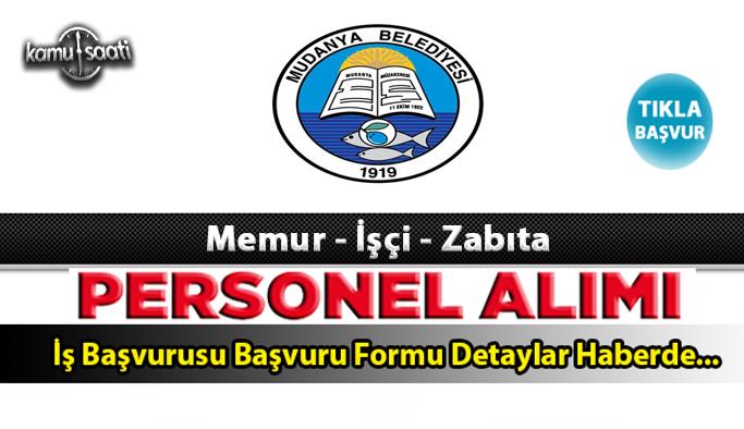 Mudanya Belediyesi Personel Alımı İş ilanları ve Başvuru Formu