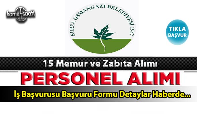 Osmangazi Belediyesi memur ve zabıta memuru alıyor 2021 Güncel iş ilanları ve başvuru formu