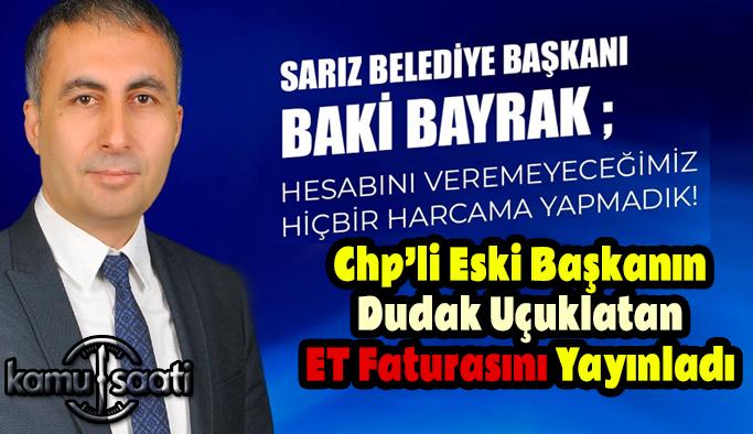 Sarız Belediye Başkanını Çileden Çıkardılar! CHP'Lİ ESKİ BAŞKANIN ET FATURALARINI YAYINLADI