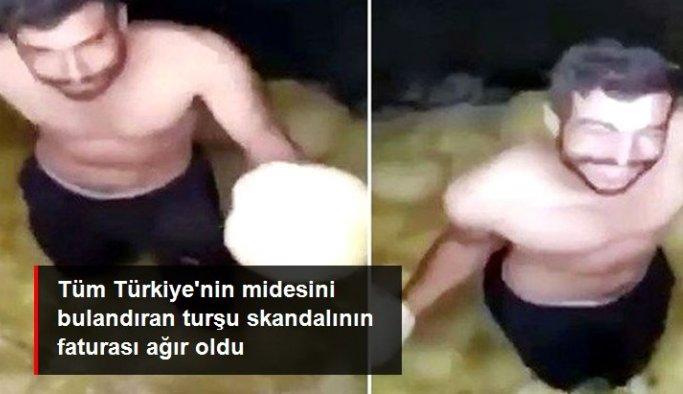 Skandal görüntülerin çekildiği turşu fabrikası mühürlendi, çalışan gözaltına alındı