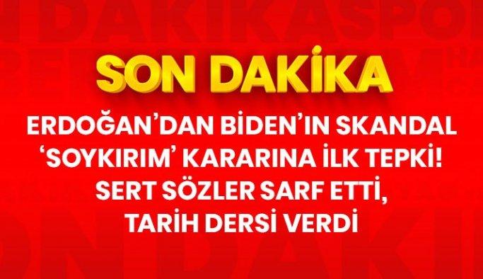 Son Dakika: Cumhurbaşkanı Erdoğan'dan Biden'ın 'soykırım' kararına sert tepki: Mesnetsiz ifadeler kullanmıştır