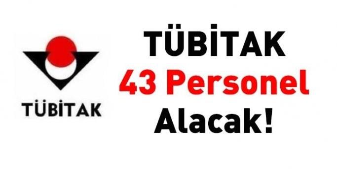 TÜBİTAK 43 personel alacak