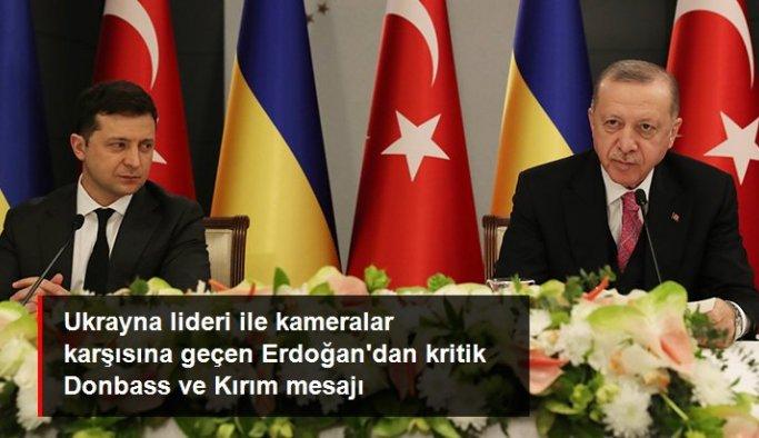 Ukraynalı mevkidaşı Zelenskiy ile görüşen Cumhurbaşkanı Erdoğan'dan Kırım ve Donbass mesajı