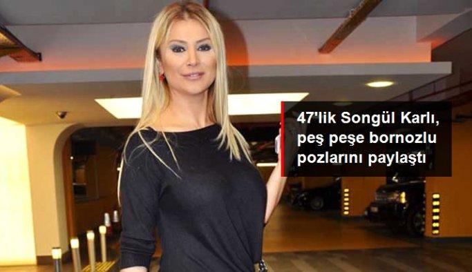 Ünlü şarkıcı Songül Karlı, peş peşe bornozlu pozlarını paylaştı