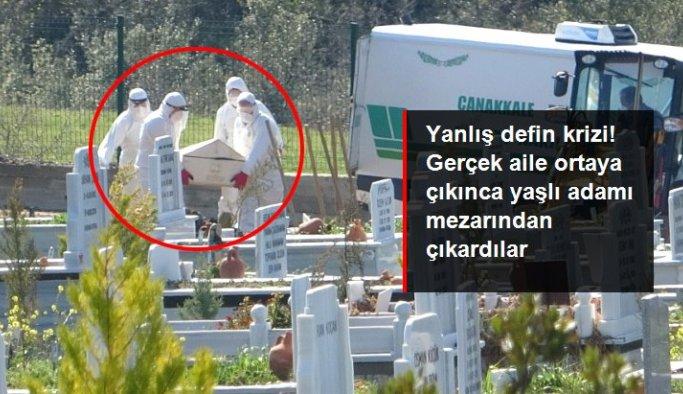 Yanlış defnedildiği için çıkarılan cenaze, bu kez gerçek ailesi tarafından toprağa verildi