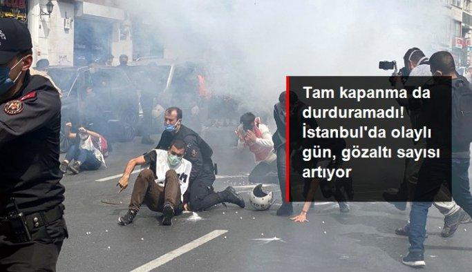 1 Mayıs yürüyüşleri nedeniyle Taksim'e çıkmak isteyen 244 kişi gözaltına alındı