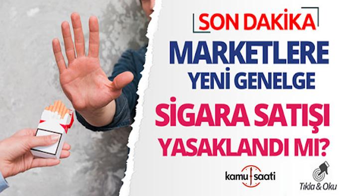 4 Mayıs marketlerde sigara satışı yasaklandı mı? BİM, şok, A101, Migros, Carrefour sigara satamayacak mı? Sigarayı kim satacak